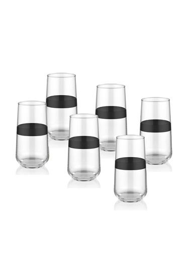 The Mia Dark Meşrubat Bardağı 6 Lı Set  Siyah